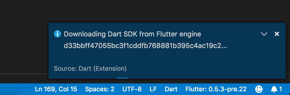 v2 14 - Dart Code - Dart & Flutter support for Visual Studio